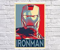 Постер плакат BEGEMOT Поп-Арт Тони Старк Железный человек Iron Man 40x61 см (1121233)