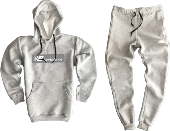 Трикотажный костюм New Balance (Нью Баланс) серый