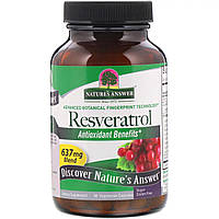"Ресвератрол Nature's Answer ""Resveratrol"" 637 мг (60 капсул)"