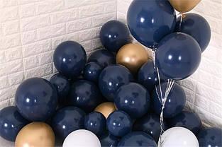 Воздушные шары латексные 5 дюймов 10 см цвет чернильный синий