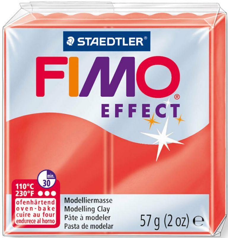 Пластика Effect, Красная полупрозрачная, 57 г, Fimo