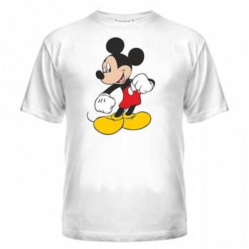 Футболка мужская с рисунком Мики, печать на футболках на заказ