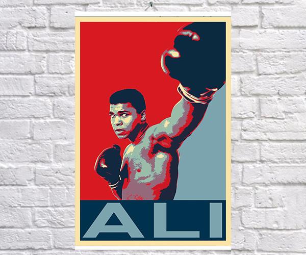 Постер плакат BEGEMOT Поп-Арт Мухаммед Али  Muhammad Ali 40x61 см (1121298)