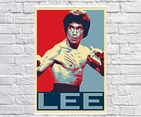 Постер плакат BEGEMOT Поп-Арт Брюс Ли Bruce Lee 40x61 см (1121310)