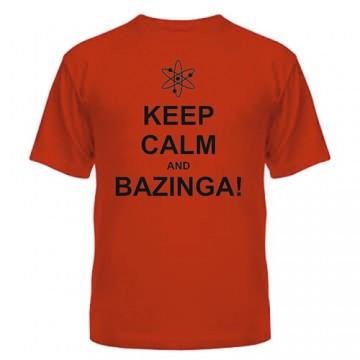 Стильная модная футболка из хлопка с надписью Шелдона Keep Calm