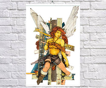 Постер плакат BEGEMOT Стрит-Арт Ангел 40x61 см (1121328)