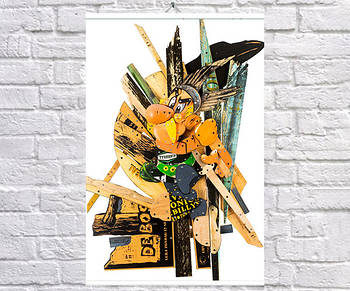 Постер плакат BEGEMOT Стрит-Арт Астерикс 40x61 см (1121329)