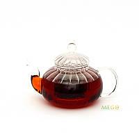 """Чайник стеклянный """"Волнистый"""", 600 мл. Заварочный чайник"""