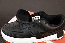 Кроссовки мужские Найк Nike Air Force Black. ТОП Реплика ААА класса., фото 2