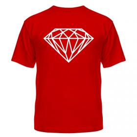 Модная футболка молодёжная прямого кроя с рисунком Кристалл swag