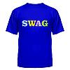 Футболка летняя с коротким рукавом с надписью Swag — цветной, фото 5