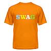 Футболка летняя с коротким рукавом с надписью Swag — цветной, фото 6