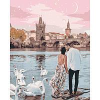 Картины по номерам  Прогулка по Праге   / пленка 40*50   КНО4652