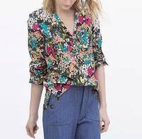 Стильная блузка в цветочек, фото 1