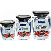 Набор контейнеров для сыпучих продуктов Glasslock 350мл, 500мл, 815мл (HG-638)