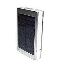Портативное зарядное устройство Power Bank 15000 mAh с солнечной панелью, фото 1
