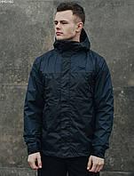 Мужская летняя куртка с капюшоном Staff ter navy & black