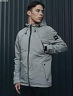Мужская летняя куртка с капюшоном Staff fly gray