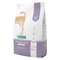 Сухой корм Natures Protection Mini Adult Lamb для собак малых пород весом от 2 до 10 кг, 7.5 кг + 2 кг