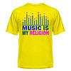 Клубная стильная яркая футболка с принтом Music is my religion, фото 3