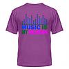 Клубная стильная яркая футболка с принтом Music is my religion, фото 6