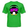 Футболка диско-клубная с ярким рисунком Пингвинчик в очках, фото 3