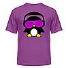 Футболка диско-клубная с ярким рисунком Пингвинчик в очках, фото 4