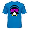 Футболка диско-клубная с ярким рисунком Пингвинчик в очках, фото 5