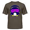 Футболка диско-клубная с ярким рисунком Пингвинчик в очках, фото 6