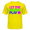 Футболка Let the music play, фото 4