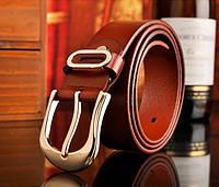 Женский кожаный ремень коричневый.  Модель : 801, фото 6