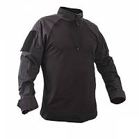Рубашка Rothco 1/4 Zip Military Combat Shirt Black