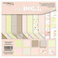 Бумага для скрапбукинга 30х30 см Doll Baby, 10 листов