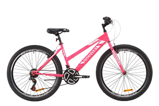 "Велосипед ST 26"" Discovery PASSION Vbr 2020 (серебристо-голубой с малиновым), фото 2"