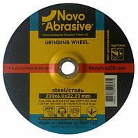 Круг зачистной (диск шлифовальный) 230 х 6.0 х 22.23 мм  NOVOABRASIVE 27 14А по металлу 10 шт/уп