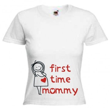 Футболка first time mommy