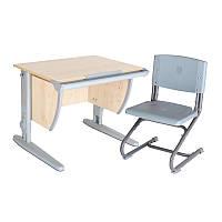 """Набор универсальной мебели """"Дэми"""":  Стол СУТ.14-00 клен/серый, стул СУТ.01"""