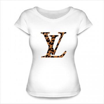 Стильная женская футболка принт Луи Виттон
