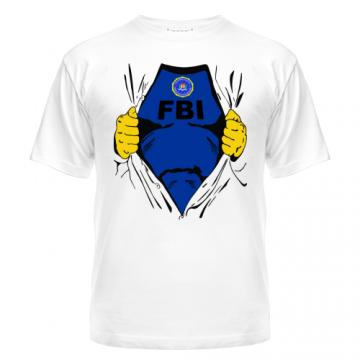 Майка мужские  FBI с нанесением надписей и рисунков на заказ