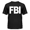 Майка мужские  FBI с нанесением надписей и рисунков на заказ, фото 5
