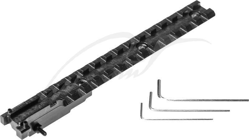 Планка АК 2000 для СКС. Профиль - Weaver/Picatinny. Длина - 17 см. Материал - сталь