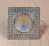 Декоративный встраиваемый светильник Feron DL2008S. Витринный образец.