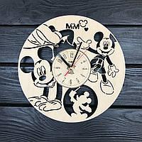Часы на стену в детскую комнату 7Arts Веселый Микки Маус (CL-0153)
