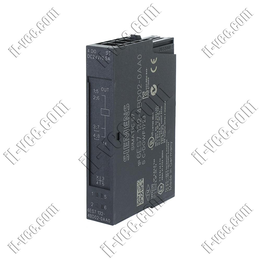 Модуль дискретного выхода Siemens 6ES7132-4BD02-0AA0, 4DO, 24V/0.5A