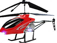 Вертолет на радиоуправлении на металическом каркасе со светодиодами и гироскопом 82 см 82 см