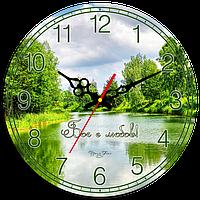 """Годинник настінний круглий """"Бог є любов!"""""""