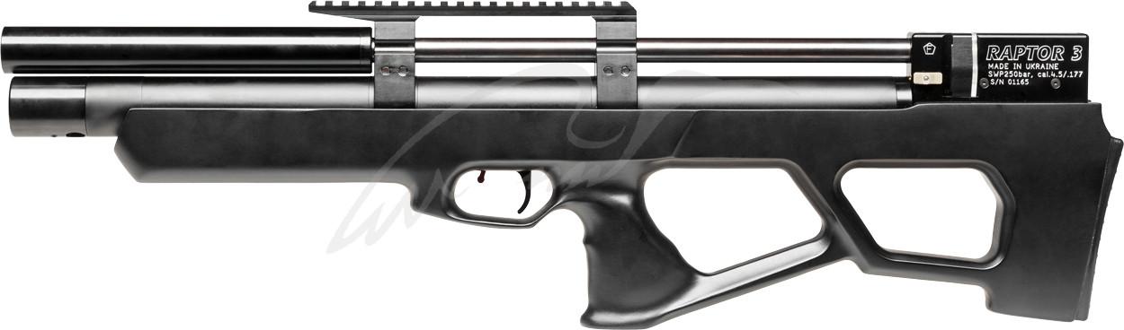 Гвинтівка пневматична Raptor 3 Standart HP PCP кал. 4,5 мм. Колір - чорний