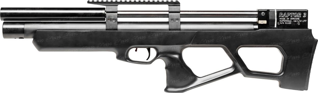 Винтовка пневматическая Raptor 3 Standart PCP кал. 4,5 мм. Цвет - черный (чехол в комплекте)