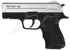 Пистолет стартовый Retay X1 кал. 9 мм. Цвет - chrome.