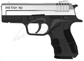 Пистолет стартовый Retay X1 кал. 9 мм. Цвет - nickel.
